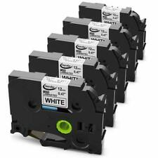 5PK TZE231 Replacement for Brother P-touch TZe-231 Black onWhite 12mm Label Tape