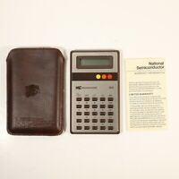 National Semiconductor Corporation NSC 99 Vintage Calculator w/ Case