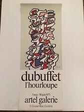 AFFICHE DUBUFFET L'HOURLOUPE ARTEL GALERIE 1973