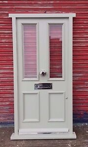 Traditional Victorian Hardwood Timber Front Door Bespoke! Made to Measure!