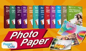 A3 INKJET PHOTO PAPER FULL RANGE GLOSS MATTE, PAPERCUTZ PROFESSIONAL