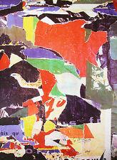 """VILLEGLE """"Passage"""" Sérigraphie originale lacérée et marouflée sur toile signée"""