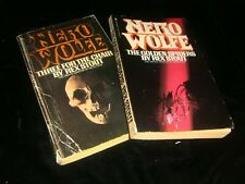 lot 1979/81 Nero Wolfe mystery Rex Stout Three For The Chair The Golden Spiders