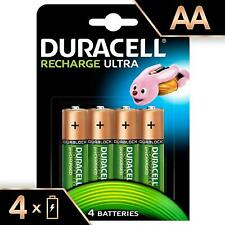 Duracell Recharge Ultra Type AA Rechargeable Batteries 2500 Mah Power, Pack Of 4