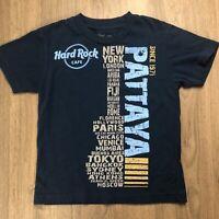 Hard Rock Cafe Boys T-shirt Sz 7-8 Blue EUC B2
