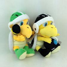 """2X Super Mario Bros Hammer Bomb Bob-omb Bro. Koopa Plush Toy Stuffed Animal 8"""""""