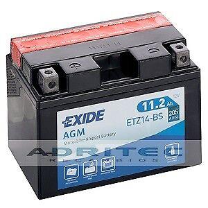 Batería Gel AGM Exide YTZ14S YTZ14-BS ETZ14BS