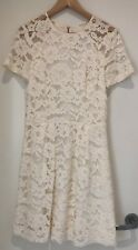 Stunning CUE Cream White Lace Dress - Size 12