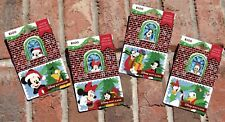 Disney Parks 2018 Christmas Holiday Gift Card Mickey & Friends Window LE Pin Set