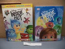 DK Disney Pixar Inside Out Movie Hardcover 64 Page & Sticker 10 Page Books NWOP