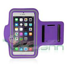 Armband fascia braccio Sport per iPhone 6 6S VIOLA custodia fitness touch screen