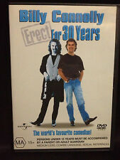 BILLY CONNOLLY ~ ERECT FOR 30 YEARS ~ AS NEW DVD ~ PAL REGION 2 & 4 ~FREE POST