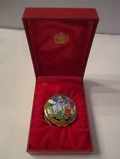 2003 HALCYON DAYS ENAMEL CHRISTMAS BOX - IN THE BOX WITH CERTIFICATE - MINT COND