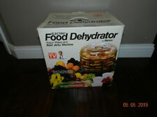 RONCO 5 Tray Food Dehydrator Beef Jerky Machine Instruction & Recipe Book
