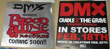 2 DMX Posters LOT ! CRADLE 2 THE GRAVE movie poster JET LI & Bloodline Records