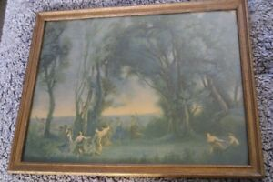 1925  Borin Manufacturing Co. Chicago Litho A Morning. The Dance of the Nymphs