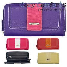 Lorenz Faux Leather Clutch Purses & Wallets for Women
