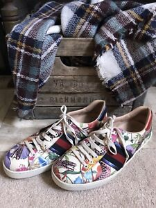 GUCCI men's ace sneakers - multicolor floral snake - sz 9 / US 9.5 9 1/2