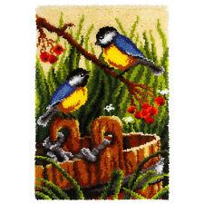 BLUE-TIT BIRDS LATCH HOOK RUG KIT by ORCHIDEA, UK Seller