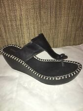 Donald J Pliner Black Platform Wedge Sandal Black CATT Size 9.5 designer shoes