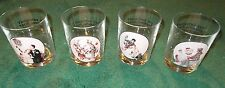 Set Norman Rockwell Decorative Saturday Evening Post Glasses 12 oz Vintage Cups