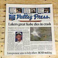 Antelope Valley Press Kobe Bryant Newspaper January 27, 2020 Unread NBA LA