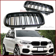 For 2014+ BMW F15 X5 Hatchback Shiny Black Front Nose Grille M Type 1 Pair Cover