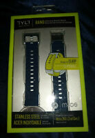 TYLT Moto 360 2nd Gen Silicone Watch Band Stainless Steel Clasp Blue Men's 42mm