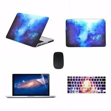 "5 IN 1Macbook Pro 13"" A1278 Blue Galaxy Case+ Keyboard Cover + LCD+ Bag+ Mouse"