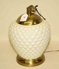 WHITE CERAMIC TABLE LAMP. Condition: Age appropriate wear. All items ... Lot 462