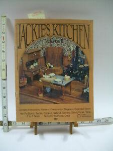 Jackie's Kitchen II 1977 Dollhouse Miniature Furniture Patterns Instructions DIY