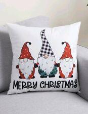 "18"" UK Merry Christmas Gonk Dwarf Elf Print Cushion Cover Home Decor"