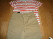 Nwt baby Gap boys outfit size 5 years stripe top and beige shorts