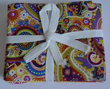 Así que astutos PAISLEY BONITA Paquete de Tela de Algodón cuarto Gordo Coser Nuevo 6 Diseños