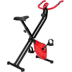 Vélo d'Appartement Pliable Elliptique Ergomètre Fitness Cardio Gym + Ordinateur