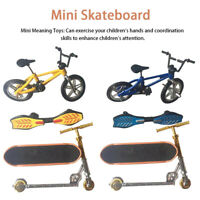 Alloy Mini Finger Skateboard Set Bike Scooter Fingertip Movement Educational Toy