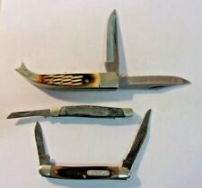 Vintage Schrade Old Timer Mini Pocket Knife 2 Blade plus 2 other pocket knives