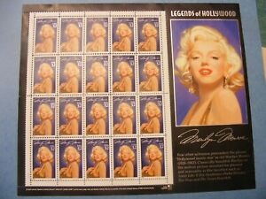 MARILYN MONROE LEGENDS OF HOLLYWOOD SHEET OF 20 32 CENT POSTAGE STAMPS