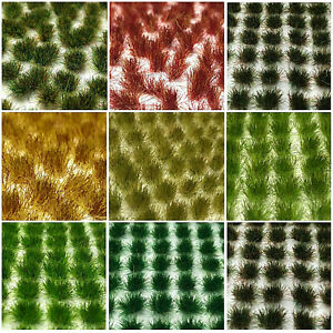 Static Grass Tufts, Flowers and Plants. Over 95 Variaties (2mm, 4mm, 6mm)