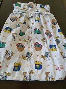 Vintage Snoopy baby diaper stacker new no tags SAFARI ADVENTURE woodstock hiking