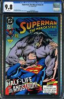 SUPERMAN: THE MAN OF STEEL #4 (D.C. COMICS 10/1991) CGC 9.8 NM/MT WP - One of 3