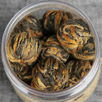 60g Handmade Organic Dian Hong Blooming Tea Ball Yunnan Black Tea Dragon Pearl
