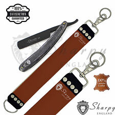 PRO STRAIGHT CUT THROAT WETSHAVING RAZOR LEATHER STROP STRAP BELT FOR SHARPENING