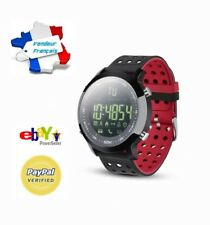 Montre Connectée Rouge/noir Smartwatch Bracelet étanche Bluetooth Android Apple