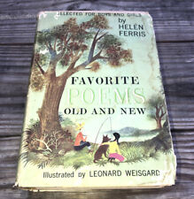 1957 Favorite Poems Old and New by Helen Ferris Book Weisgard USA