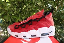 759787fe47e NIKE AIR MORE   MONEY SZ 9.5 GYM RED BLACK WHITE AJ2998 600