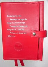 Narcotics Anonymous NA Basic Text 6th How and Why RED Deluxe Double Book Cover