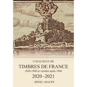 Catalogue de cotation Maury timbres de France 2020-2021.