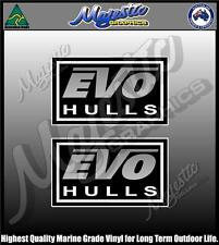 EVO HULLS - STACER - PAIR - BOAT DECALS