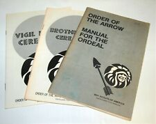 BSA - OA…SET OF 3 CEREMONY BOOKS…ORDEAL - BROTHERHOOD - VIGIL…1983 PRINTING